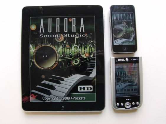 Running Aurora Sound Studio on iPad, iPhone, and Windows Mobile.