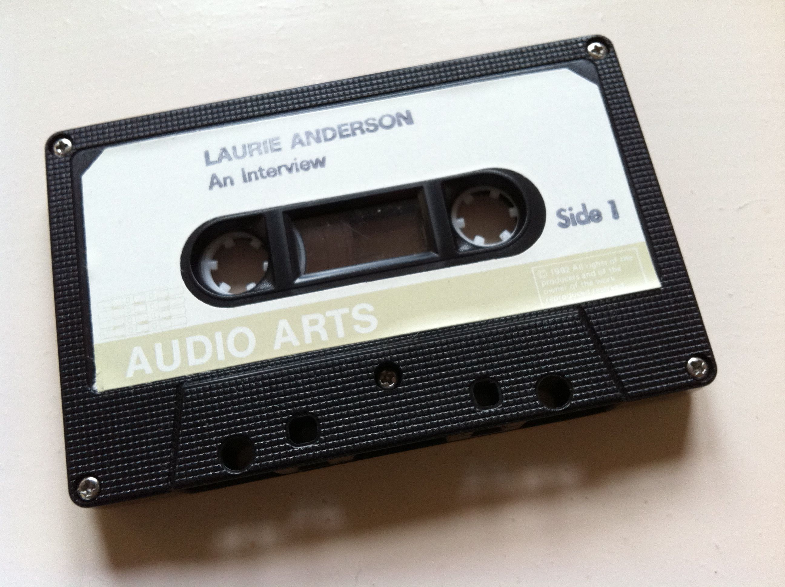 Laurie Anderson Interview Cassette