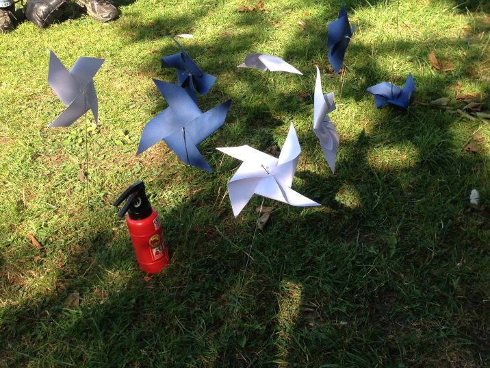 More paper windmills