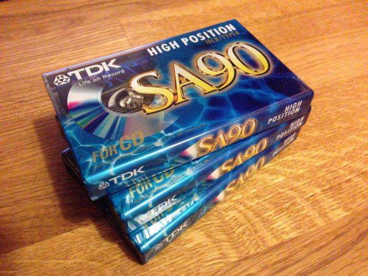 TDK SA90's, all fresh!