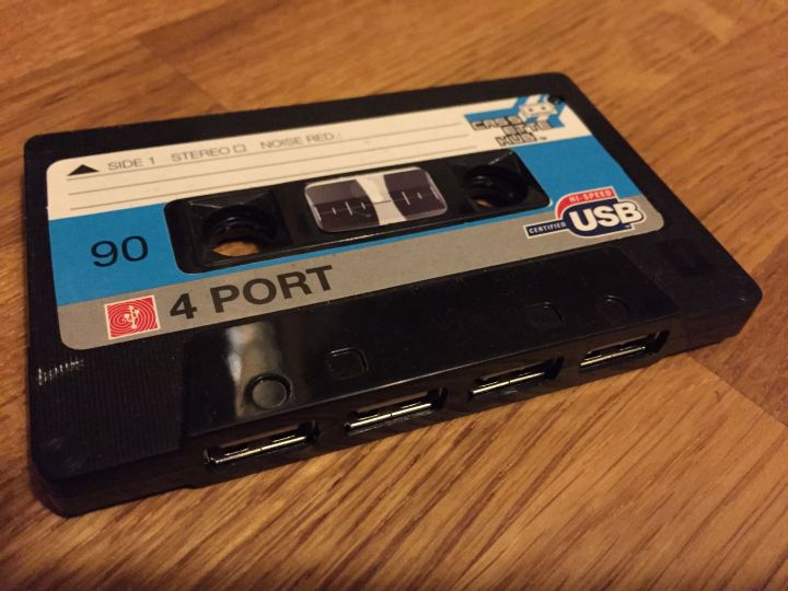 A Cassette Shaped USB hub
