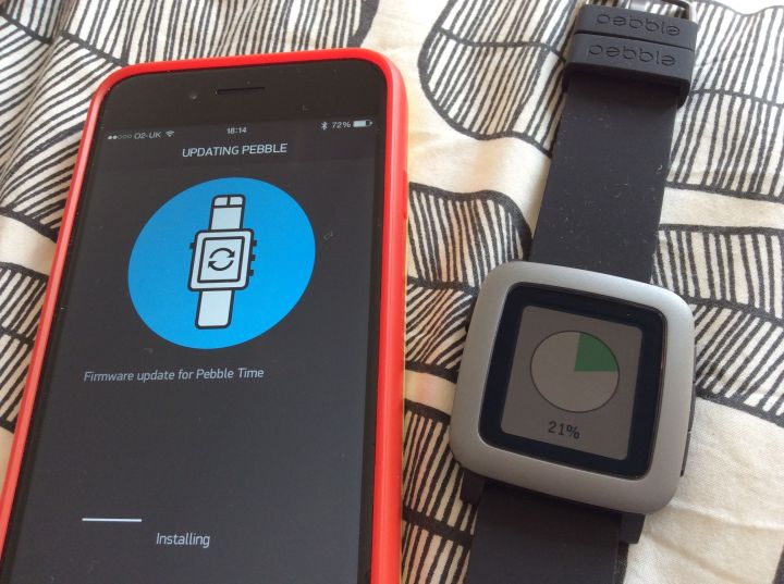 Pebble Time Firmware update