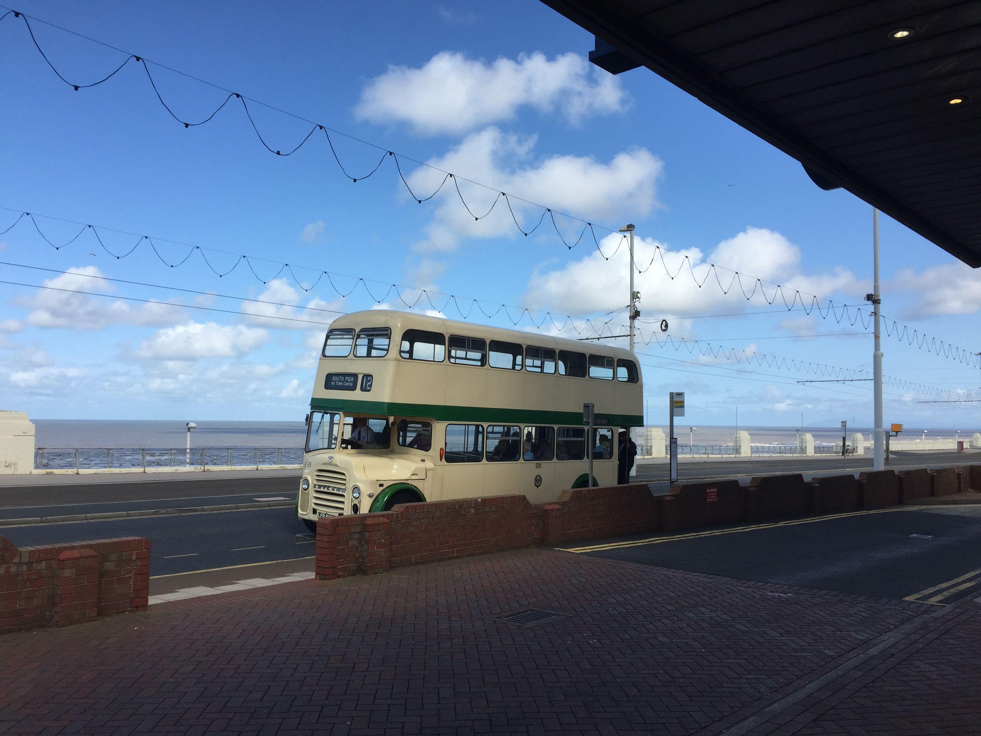 Vintage bus in Blackpool