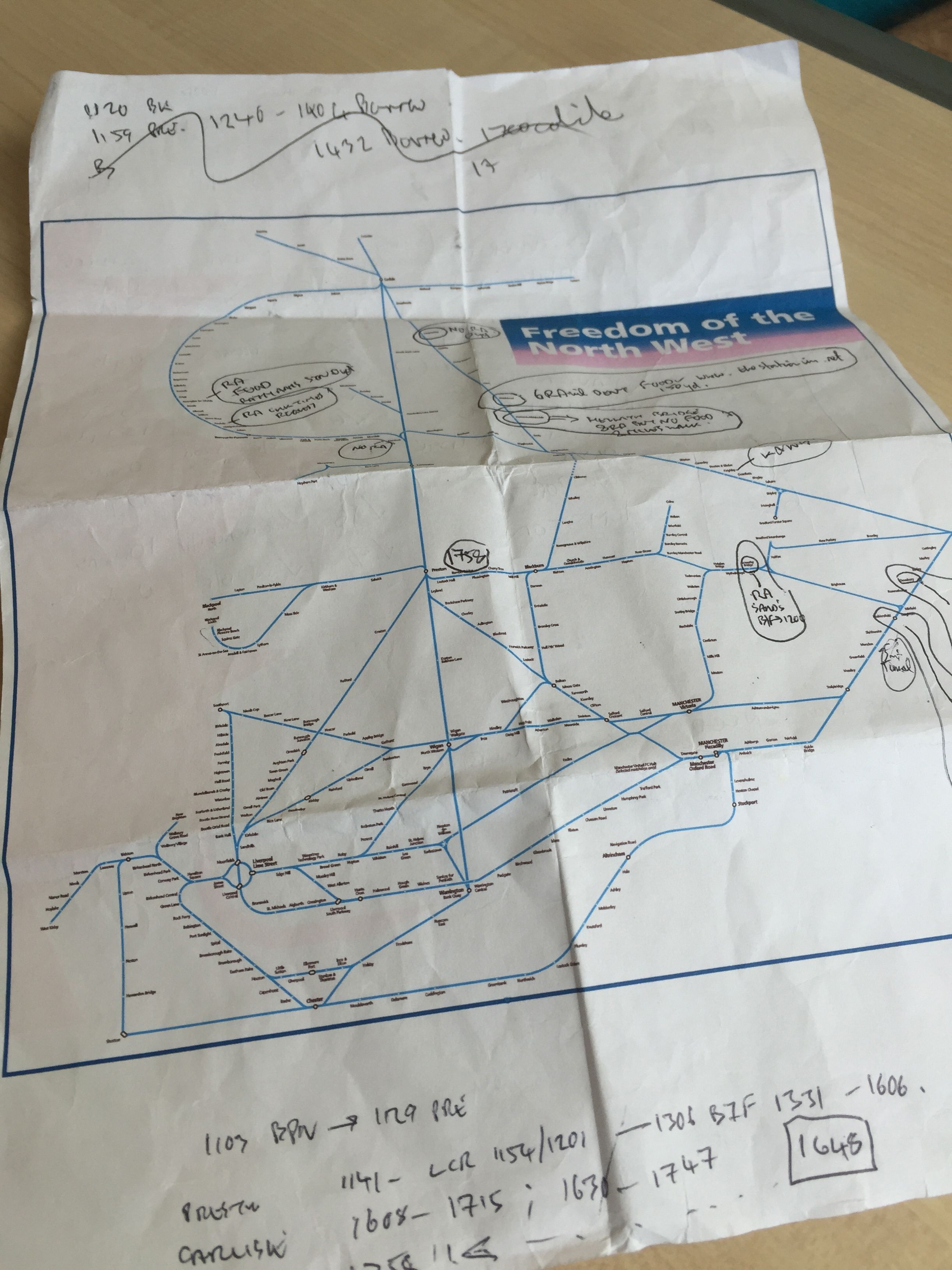 Rail Plan for our Northern rovers