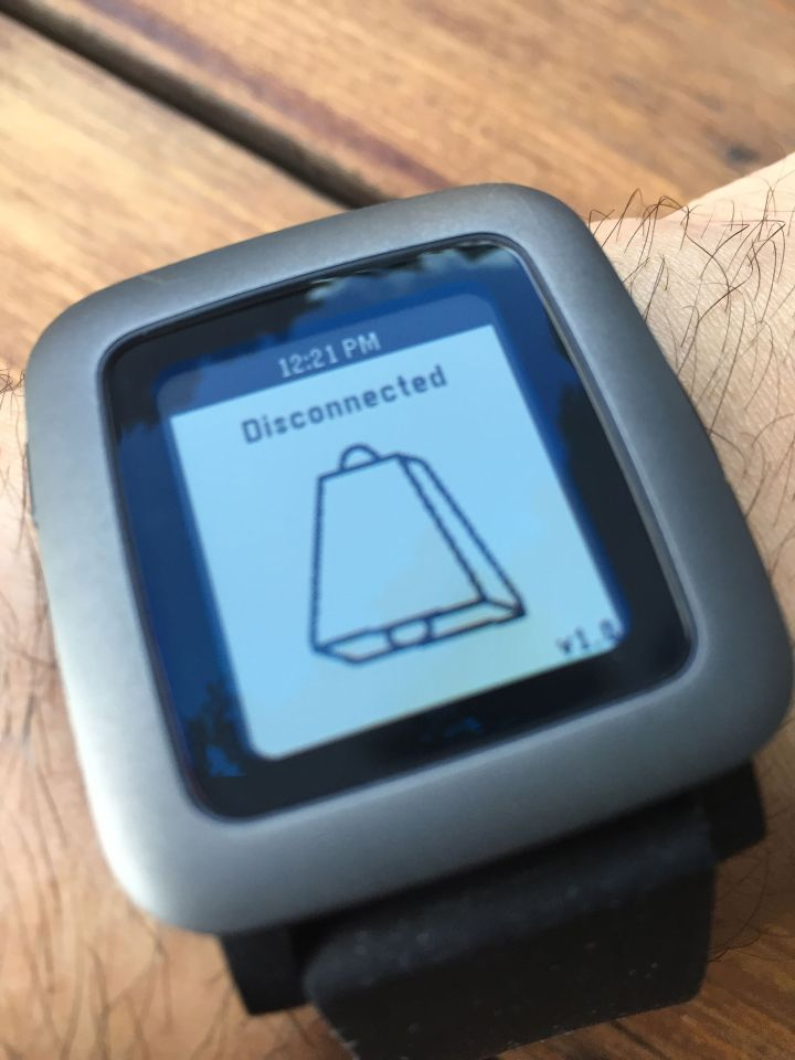 Pebble Time disconnection alert