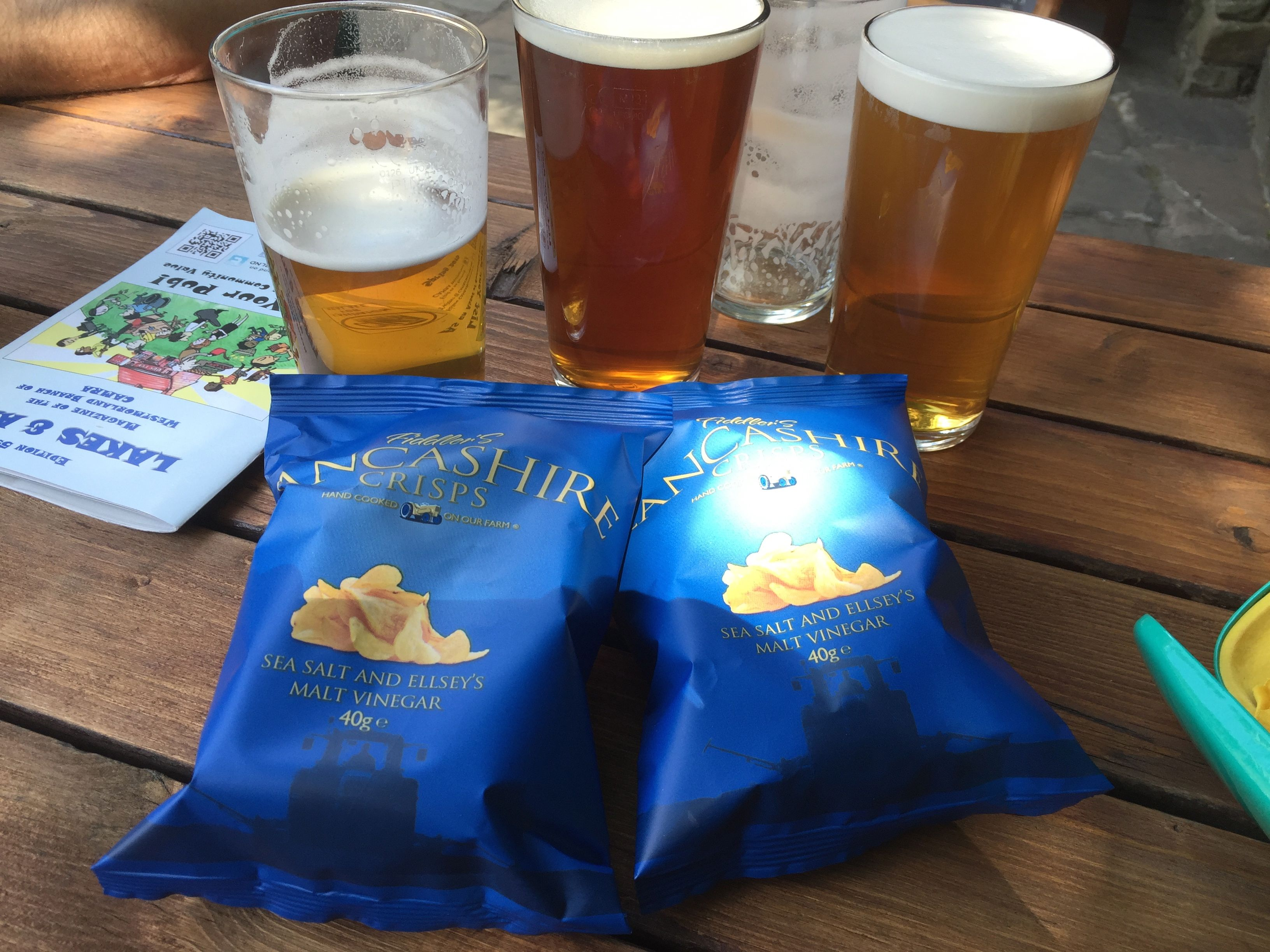 Beers and crisps
