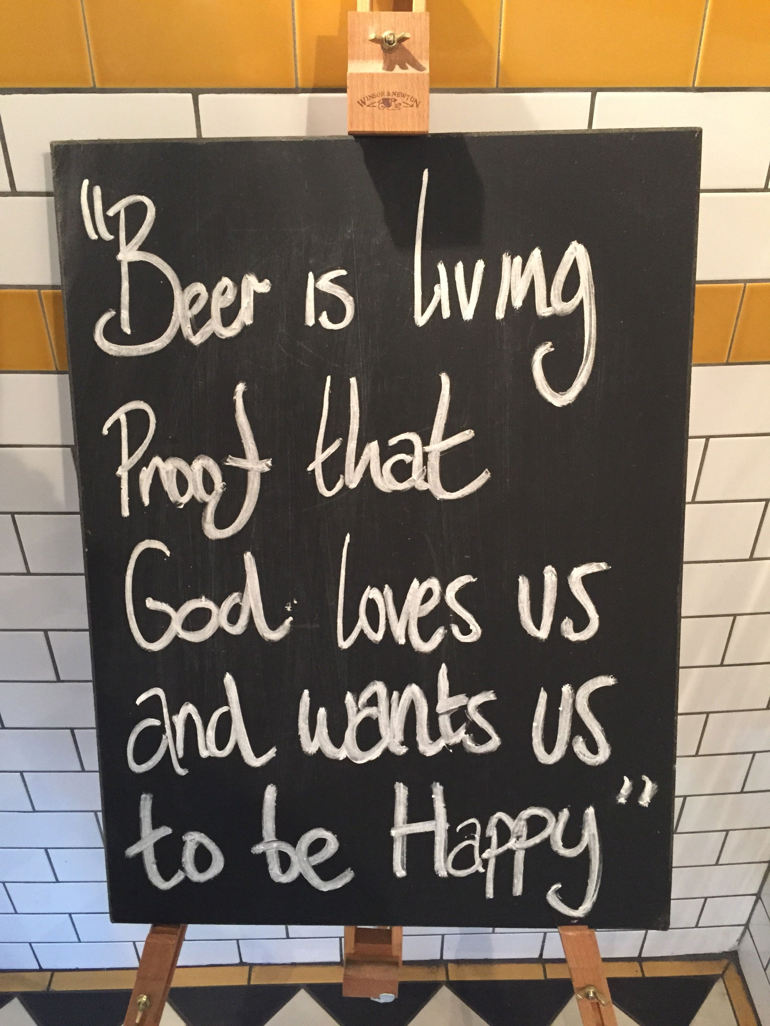A lovely sentiment at a very nice little pub.