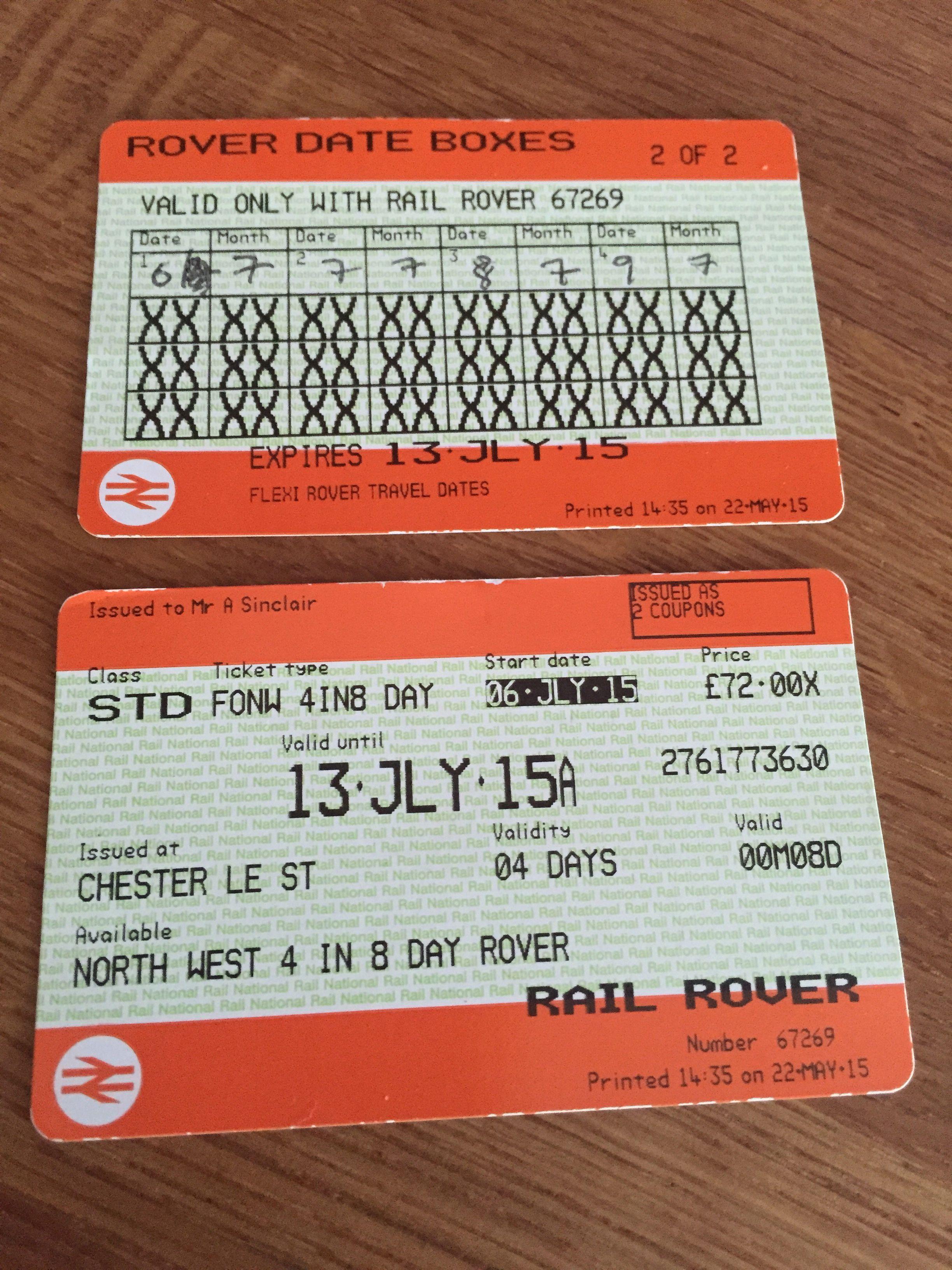 Rail Rover Tickets