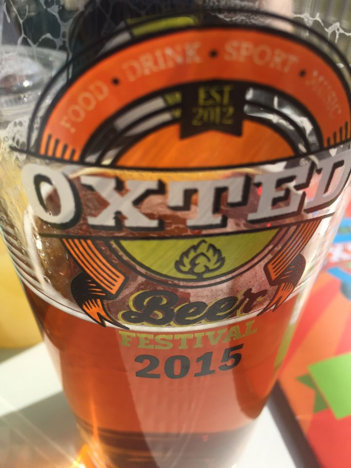 Oxted Beer Festival glass.