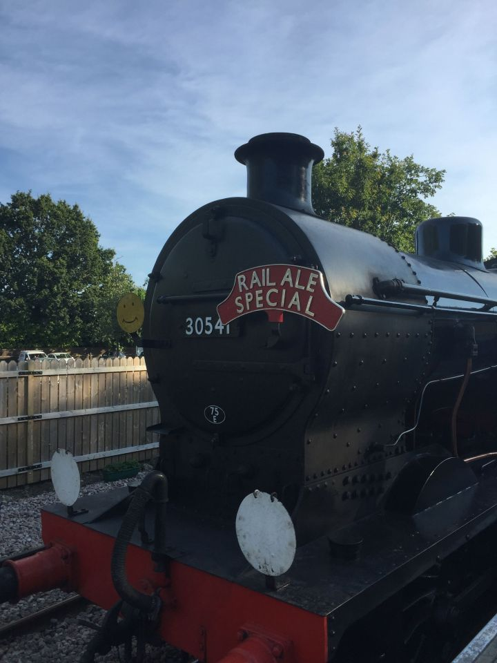 Front of the Rail Ale train, 31st July 2015