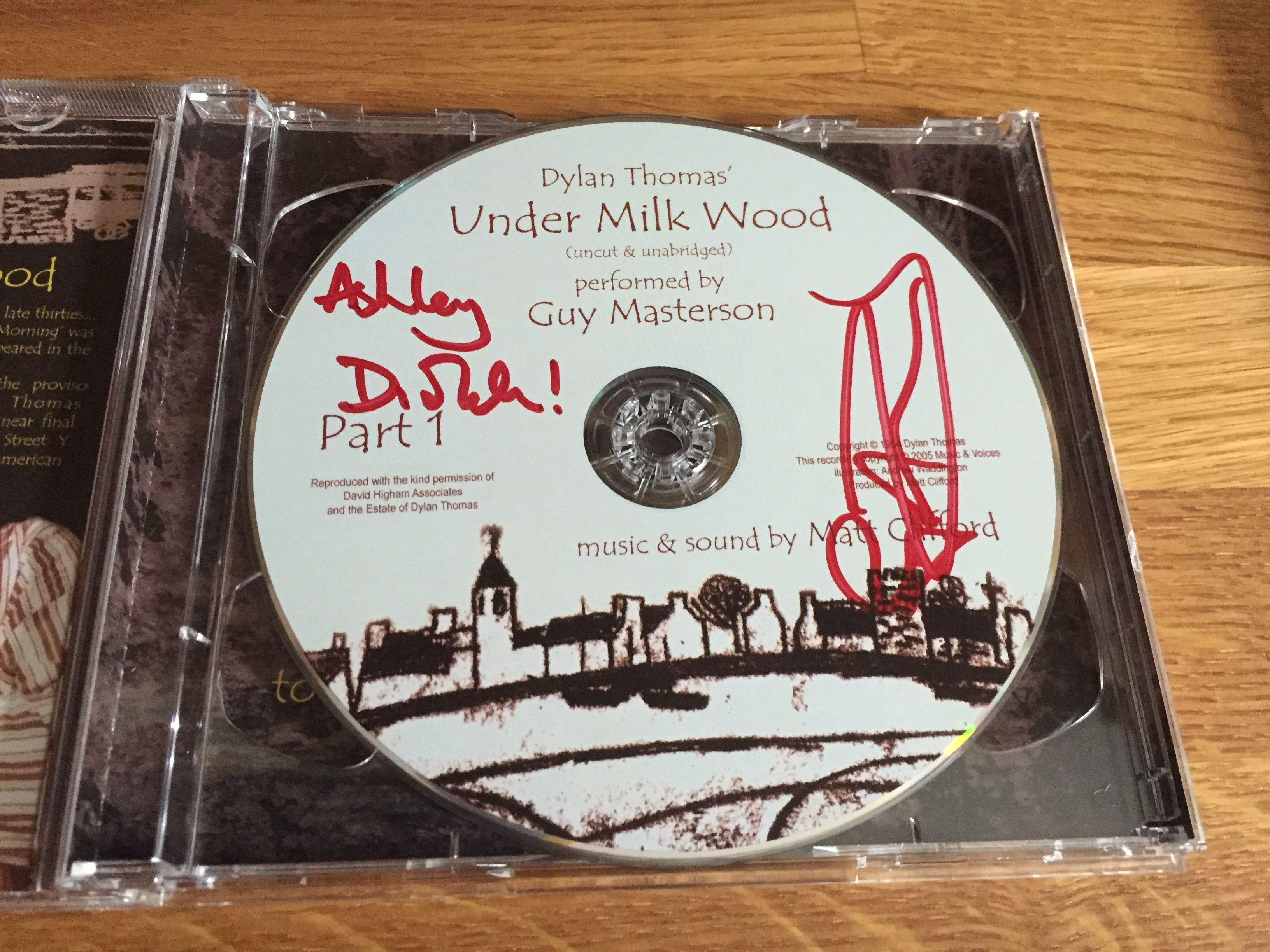 Ed Fringe 2015: Under Milk Wood signed CD