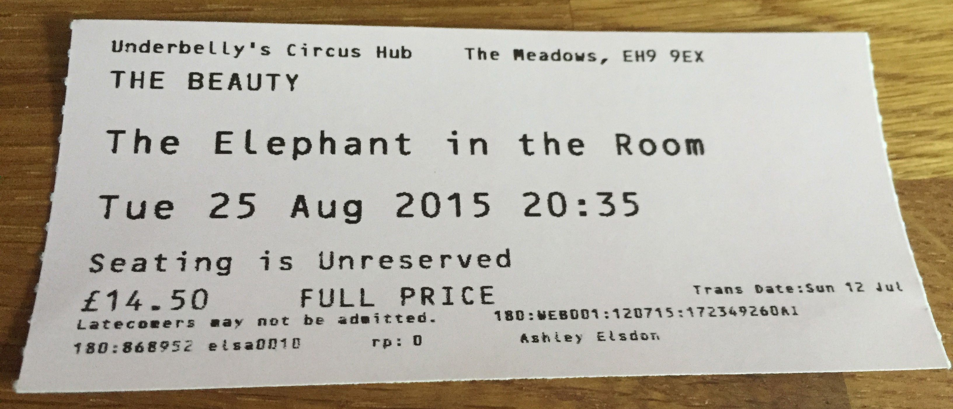Ed Fringe 2015: Elephant in the Room