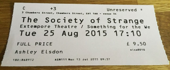 Ed Fringe 2015: Society of Strange