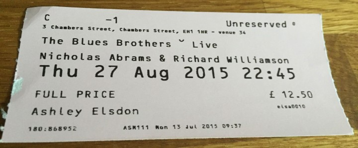 Ed Fringe 2015: The Blues Brothers Live