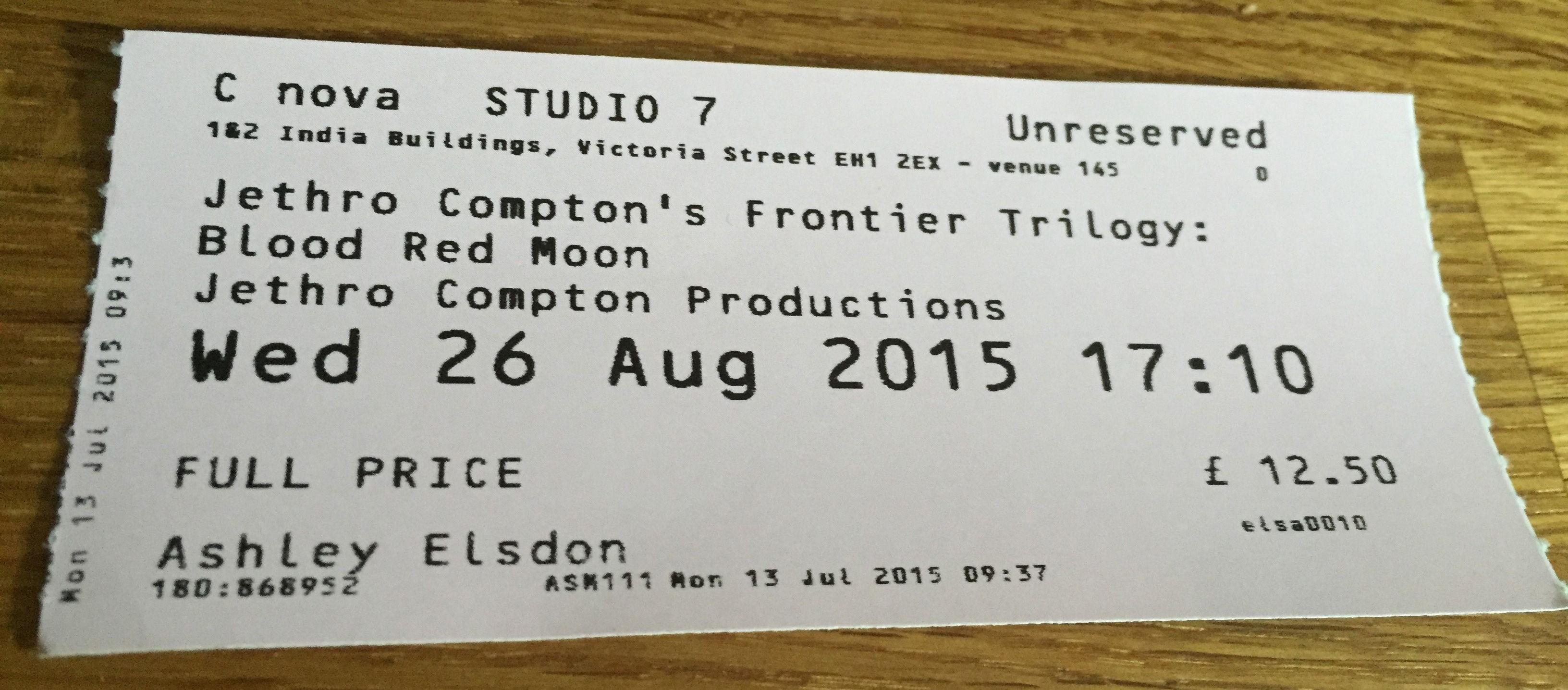 Edinburgh Fringe 2015: Frontier Trilogy - Red Moon