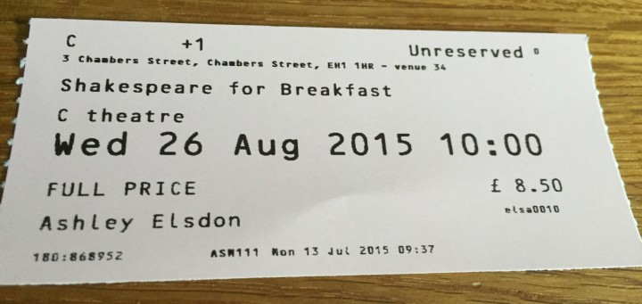Ed Fringe 2015: Shakespeare for Breakfast