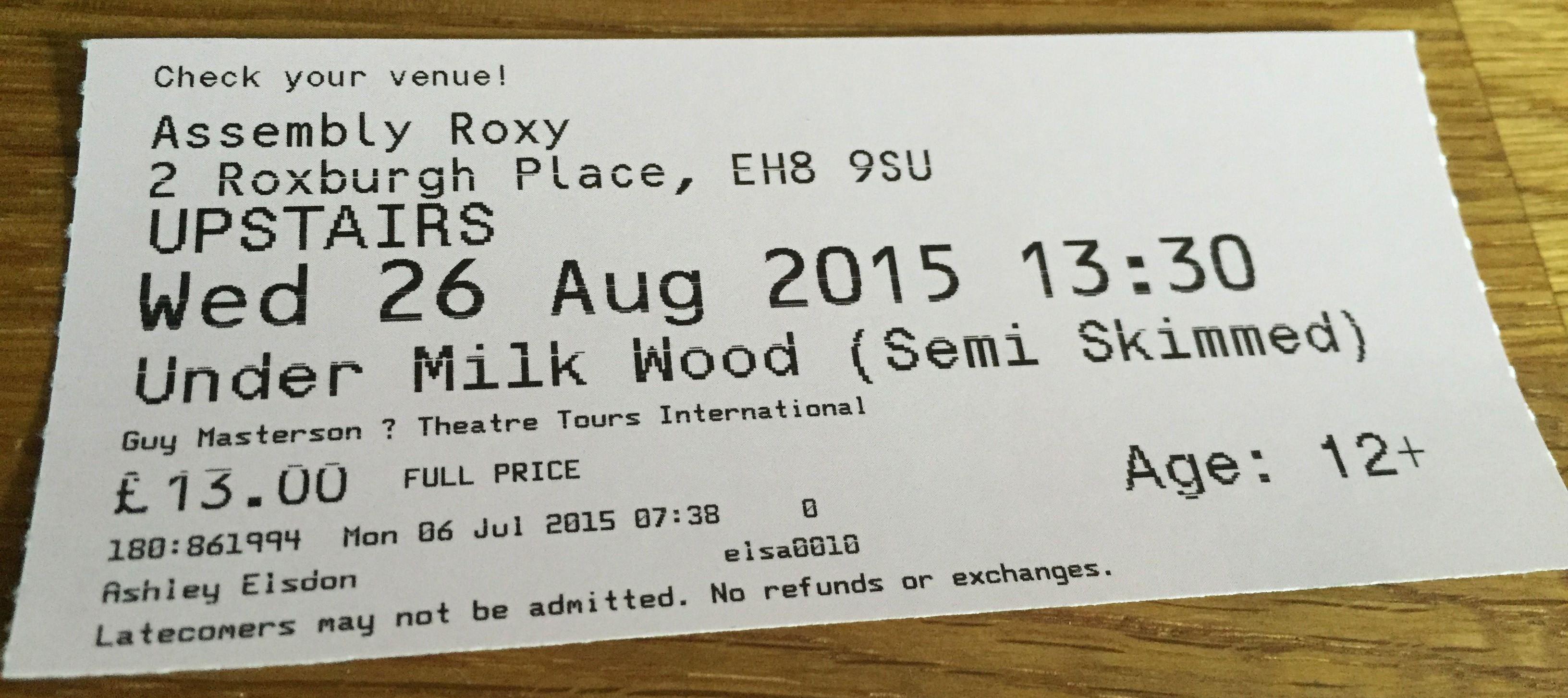 Ed Fringe 2015: Under Milk Wood