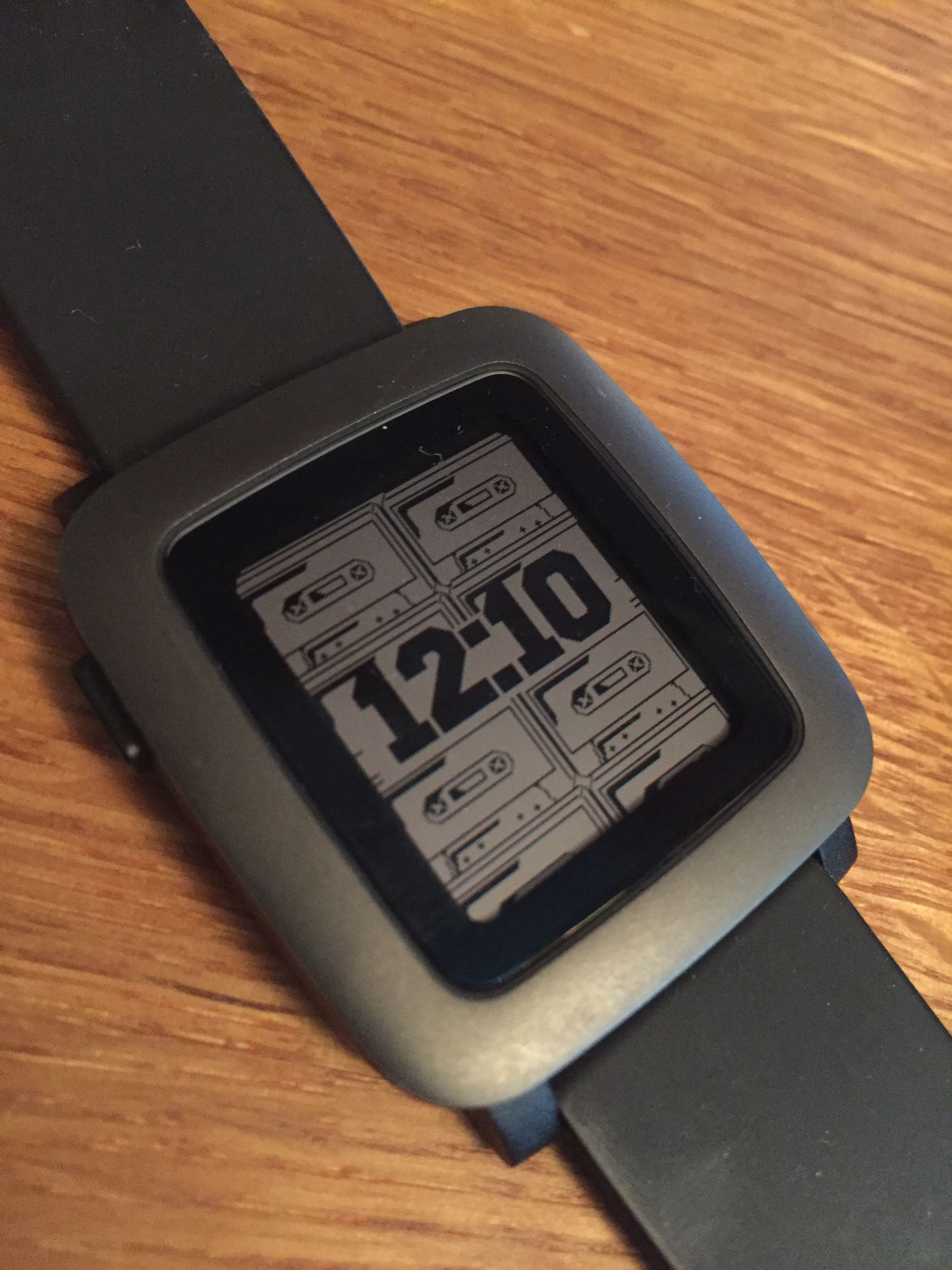 Cassette Watch face for Pebble Time