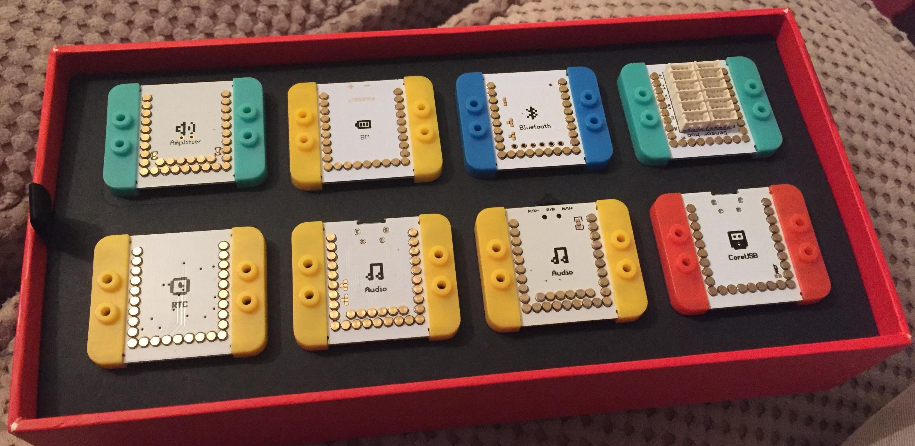 Microduino bits in their box