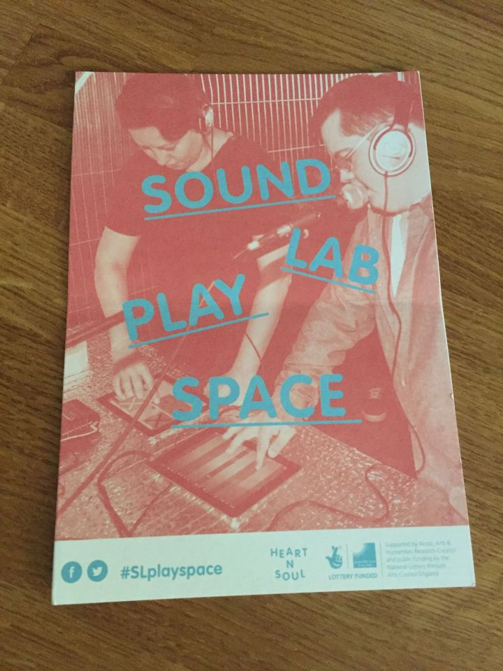 SoundLab Play Space Leaflet, Cover