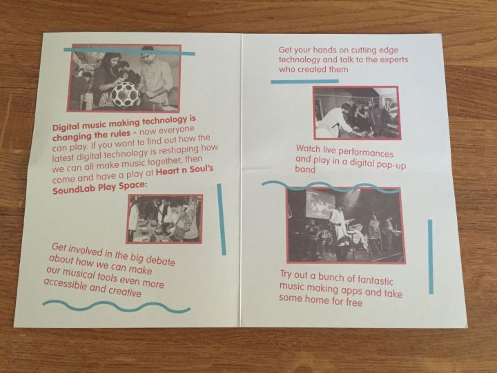 SoundLab Play Space Leaflet, Inside