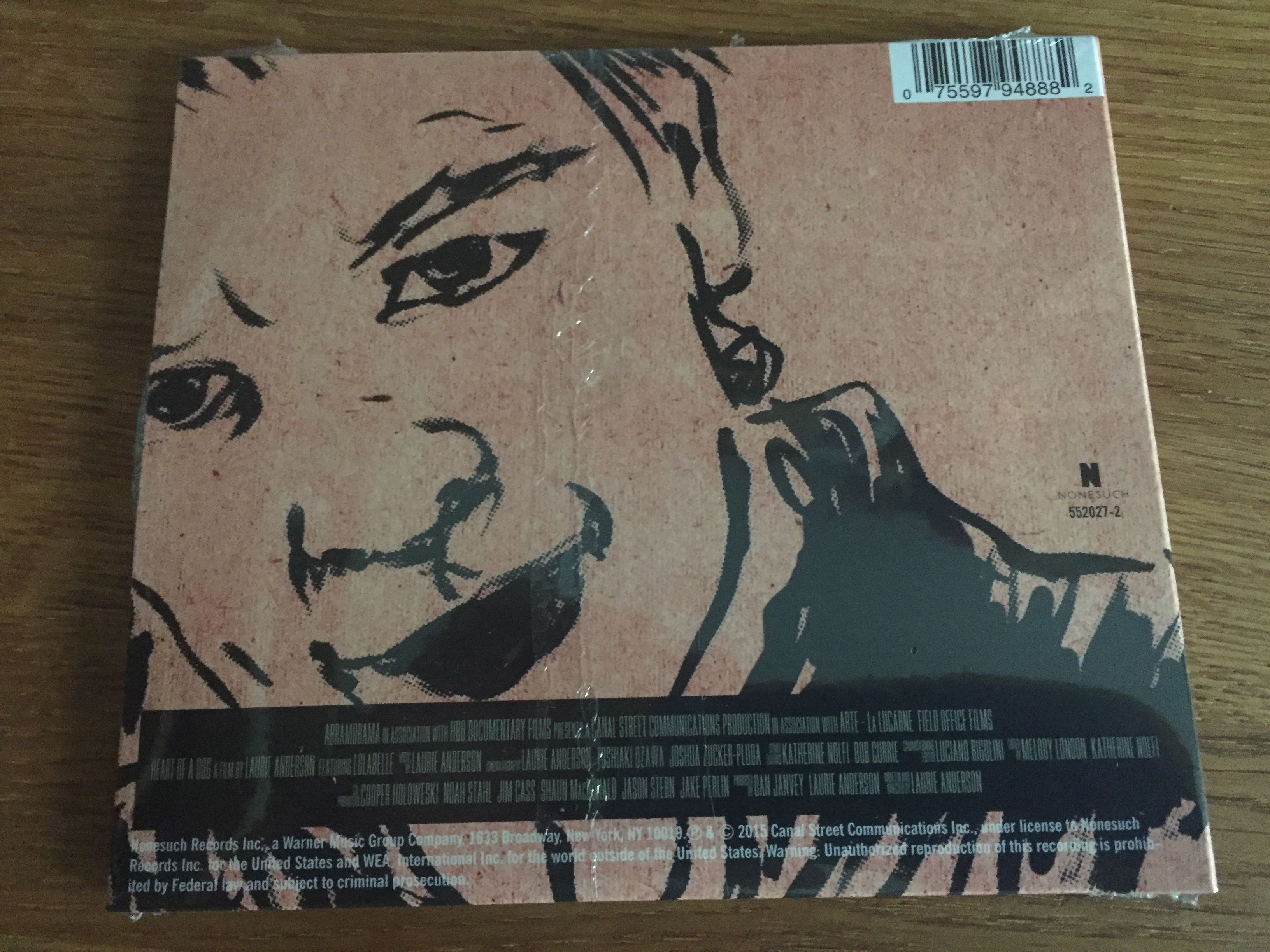 Laurie Anderson, Heart of a Dog CD Back