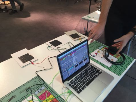 Conductive Ink Proximity Pads controlling Ableton