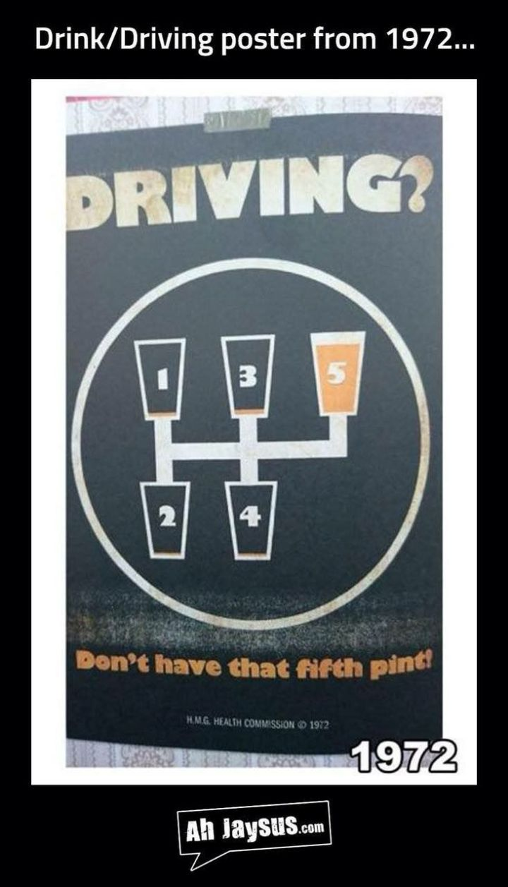 Drink Driving in 1972