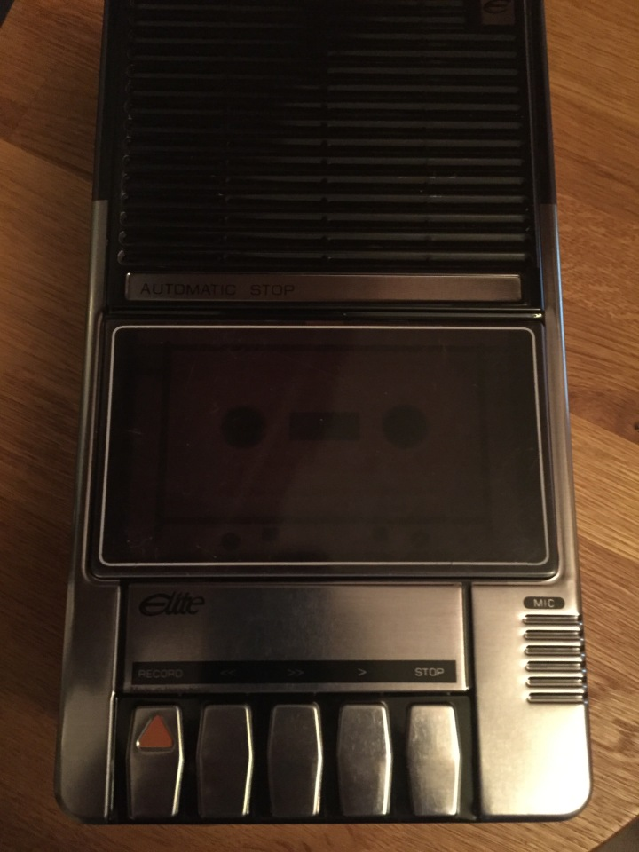 Old fashioned Cassette Recorder (biscuit tin)