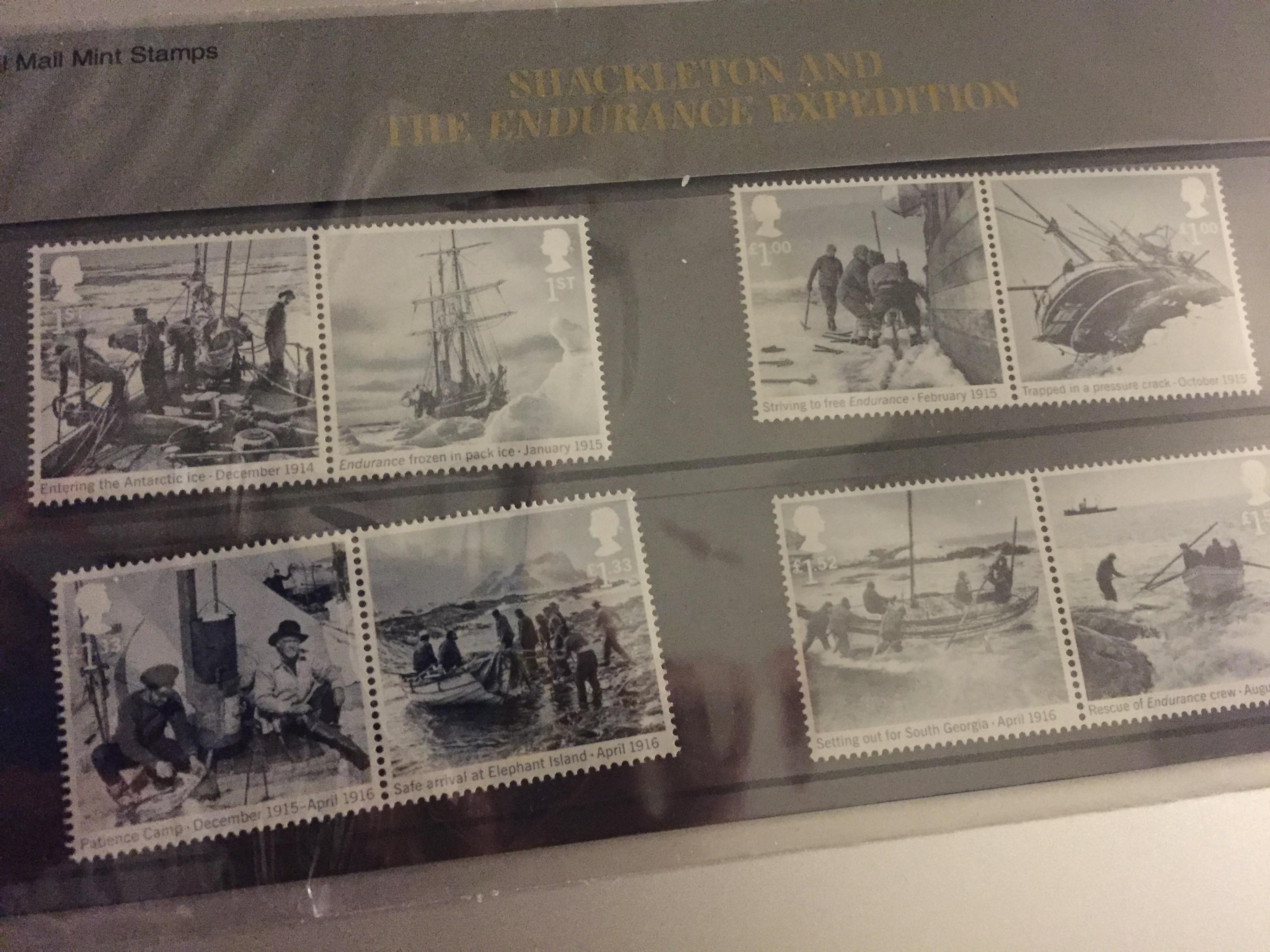 Shackleton stamps