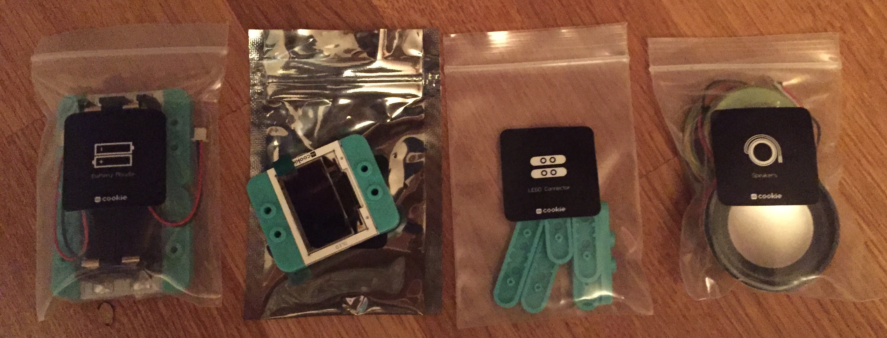 mCookie Microduino OLED screen and parts