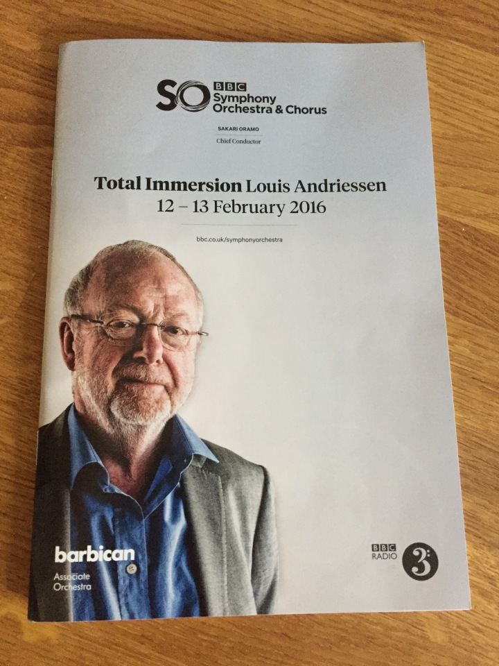 Louis Andriessen at the Barbican