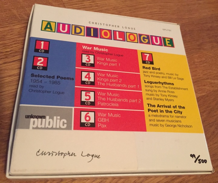 Christopher Logue, Audiologue