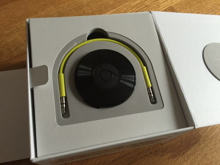 Chromecast Audio in the box