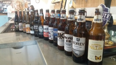 Selection of bottles at St Austell