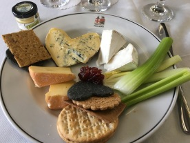 Cheese Board on the pullman car
