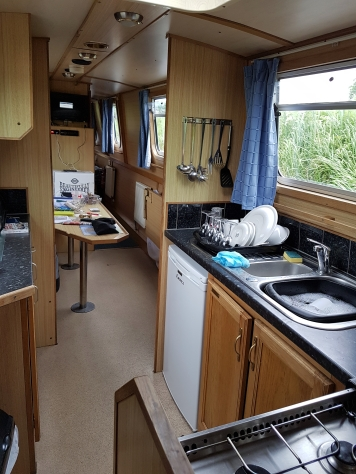 50th Canal trip Boat Kitchen